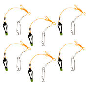 6pcs Heavy-duty Outrigger Power Grip Snap Release Clip For Sea Fishing Black