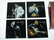 Elvis Presley Collectible Glass Coaster Set 4 Different Images 4 X 4