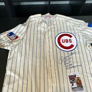 Billy Williams Signed Heavily Inscribed Stats 1969 Chicago Cubs Jersey Jsa Coa