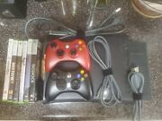 Xbox 360 Elite Black Console Bundle Controller Cable Hdd 6 Video Games Microsoft
