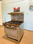H-duty Commercial Southbend X336d Natural Gas 6 Burners Stove Range With Oven