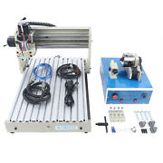 400w 4 Axis 3040t Cnc Router Er11 Wood Engraver Carving Machine Usb+remote