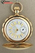 Vintage 1912 Elgin Tucker And Wilmont Jewerly Co Dial Full Hunter Pocket Watch