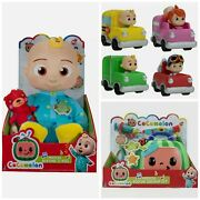 Cocomelon Gift Set Doctor Musical Check Up, 4 Cars Vehicles Jj Doll Yoyo Tomtom