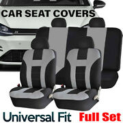 Car Seat Covers Front Andrear Bench With Headrests Full Set For Auto Truck Suv Van