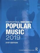 International Who's Who In Popular Music 2019 2019, Hardcover