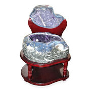 Home Decor Office Decoration Uruguayan Amethyst Geode On Wooden Stand 118 Lbs
