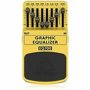 Behringer Eq700 Ultimate 7-band Graphic Equalizer,lt Yellow
