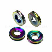5mm Rainbow Titanium Spacers For Ducati Brake Calipers Od 24mm One Side Recess