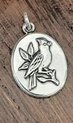Retired James Avery Cardinal Bird Oval Pendant Neat Rare Piecew/ Box And Pouch
