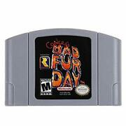 For Nintendo N64 Game Cartridge Console Card Us Version - Bad Fur Day
