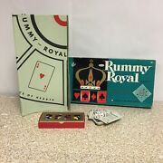 Vintage 1962 Rummy Royal Michigan Table Size Plastic Game Sheet 4714 By Whitman