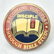 Becoming Disciples Through Bible Study Vintage Pin Brooch Button Pinback