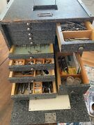 Antique Dental Travel Wood Box Tool Box With Dental Instruments Orthodontist