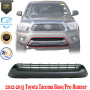 Front Bumper Grille Valance Textured For 2012-2015 Toyota Tacoma Base/pre-runner