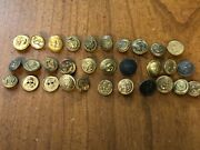 Civil War Era Us Navy Coat Buttons In Rare Condition Lot Of 30