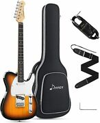 Donner 39 Inch Telecaster Electric Guitar Full Size Tele Style Solid Body Sunbur