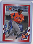 2021 Topps Pro Debut Red Pd-1 Wander Franco 10/10 - Bowling Green Hot Rods