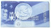1999 P/d Susan B Anthony Uncirculated Coin Set