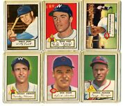 1952 Topps Lot Of 32 Different Cards From Original Owner Vg-nm