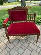 Antique Victorian Eastlake Furniture Settee Love Seat Chaise