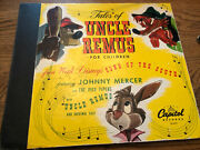 Tales Of Uncle Remus Song Of The South Capitol Walt Disney Record Set Cover Only