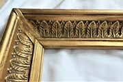 Big Vintage Fits 15 X 29 Gold Picture Frame Wood Gesso Ornate Fine Art Country