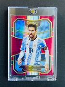 2017 Panini Select 76 Lionel Messi Red Prizm /199- Looks Mint+💎 Psg