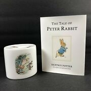Wedgewood Beatrix Potter Peter Rabbit Coin Piggy Bank And Book In Box Nib
