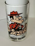 1970s Pepsi P.a.t.-ward Canadian Mounty Dudley Do-right Canoeing Cartoon Glass