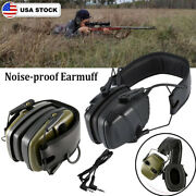 Electronic Earmuff Hearing Noise Protection Tactical Hunting Shooting Headset Us