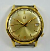 Vintage 1965 M5 Accutron 18k Solid Gold Case Tuning Fork 218d Wrist Watch Lot.e