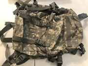 Used Molle Acu 3 Day Assault Pack Usgi Military Camo Backpack With Stiffener