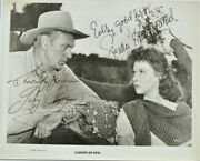 Gary Cooper And Susan Hayward Cast Signed Photo X2 - Garden Of Evil W/coa