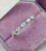 Fine Engagement And Wedding Eternity Ring 14k White Gold 2.8 Ct Marquise Diamond