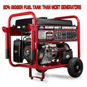 All Power 10000w Dual Fuel Gas Portable Generator With Electric Start 8gals Usa