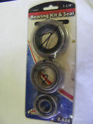 Trailer Hub Axle Inner Bearing Kit And Seal 1 1/4 Lm67048 Outboard Marine Lm67010
