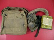 Wwi Era Aef Us Army Gas Mask And Canvas Carry Bag - Original - Nice Condition 2