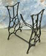 Treadle Sewing Machine Cast Iron Base Industrial Age Table Singer Steampunk Xx