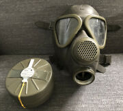 German Drager Military Surplus Gas Mask Size 2 With Sealed Unused Filter Green A