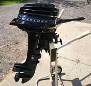 Vintage 1973 Mercury 40 4 Hp Outboard 2 Cycle Boat Motor W/thunderbolt Ignition
