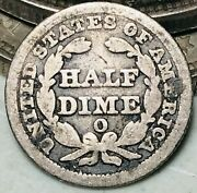 1851 O Seated Liberty Half Dime 5c Ungraded Damaged 90 Silver Us Coin Cc9256