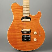 Ernie Ball Music Man Usa Axis Super Sport Hardtail - 2013 - Trans Gold Quilted
