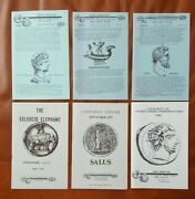 Alex Malloy - Ancient Greek And Roman Coin Catalogs 6 From 1973-1991 Scarce