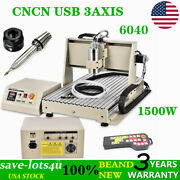 Usb 3 Axis Cnc 6040 Engraving Machine Router Engraver Pcb Wood 1.5kw W/ Control