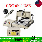 Usb Port 3 Axis Cnc Router 6040 Engraver Engraving Milling Machine Pcb 1.5kw
