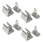 4pcs Heavy Duty Boat Door Latch - Marine Gate Stop Catch And Holder - 304