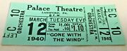 Theater Tickets Gone With The Wind March 12th 1940 Palace Theater Lansford Pa