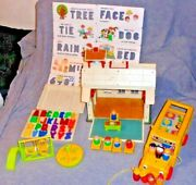 Vtg Fisher Price Little People-school House-923-near Comp-school Bus-complete
