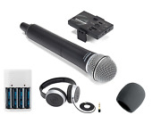 Samson Go Mic Mobile Handheld Wireless System + Headphones + Batteries And Charger